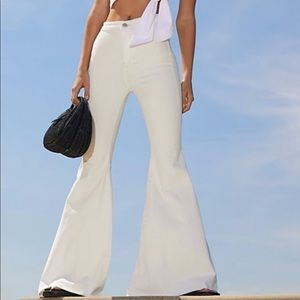 Free People Just Float On Flares Winter White